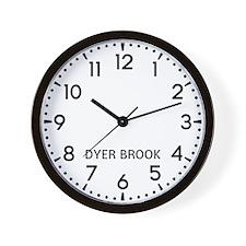 Dyer Brook Newsroom Wall Clock
