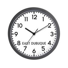 East Dubuque Newsroom Wall Clock