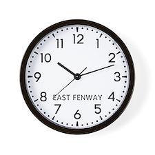 East Fenway Newsroom Wall Clock
