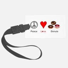 Peace Love Donuts Luggage Tag