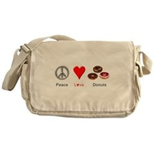 Peace Love Donuts Messenger Bag