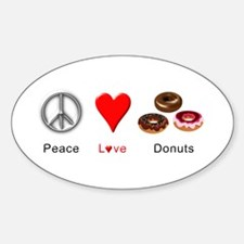 Peace Love Donuts Decal