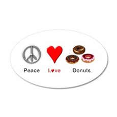 Peace Love Donuts Wall Decal