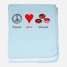 Peace Love Donuts baby blanket