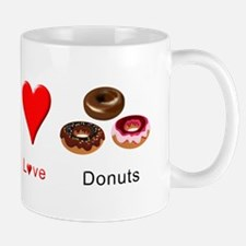 Peace Love Donuts Mug