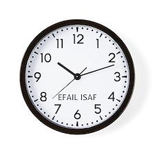Efail Isaf Newsroom Wall Clock