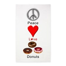 Peace Love Donuts 3'x5' Area Rug