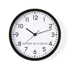 El Port De La Selva Newsroom Wall Clock