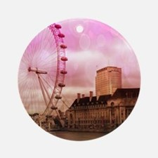 London, pink effect Ornament (Round)