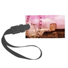 London, pink effect Luggage Tag