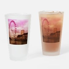 London, pink effect Drinking Glass