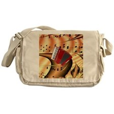 Red Accordion Abstract  Messenger Bag
