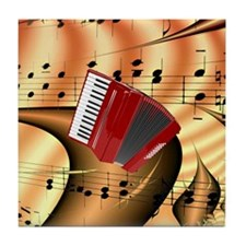 Red Accordion Abstract  Tile Coaster