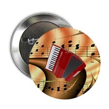 """Red Accordion Abstract  2.25"""" Button"""