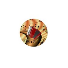 Red Accordion Abstract  Mini Button