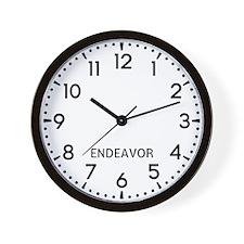 Endeavor Newsroom Wall Clock