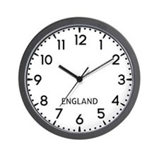 England Newsroom Wall Clock