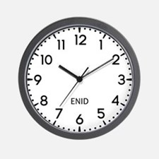 Enid Newsroom Wall Clock