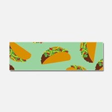 Taco Pattern Car Magnet 10 x 3