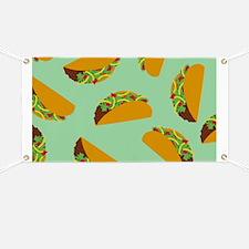 Taco Pattern Banner