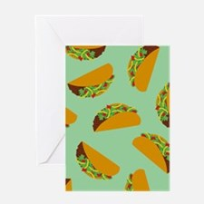 Taco Pattern Greeting Cards
