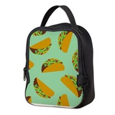 Taco Pattern Neoprene Lunch Bag