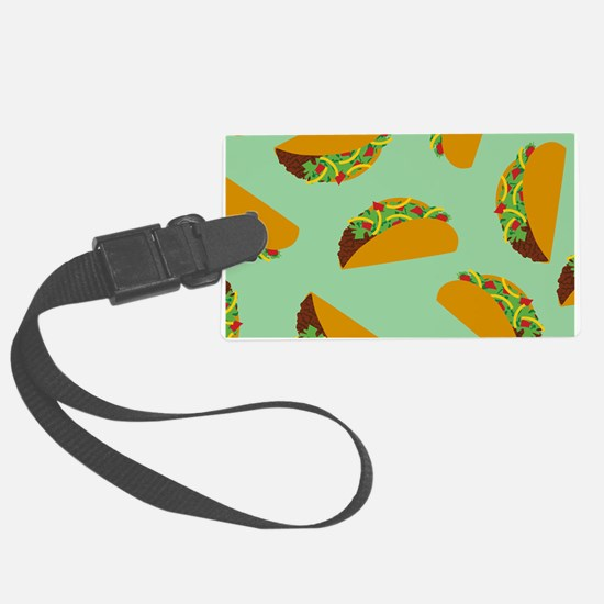 Taco Pattern Luggage Tag