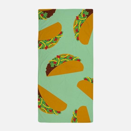Taco Pattern Beach Towel