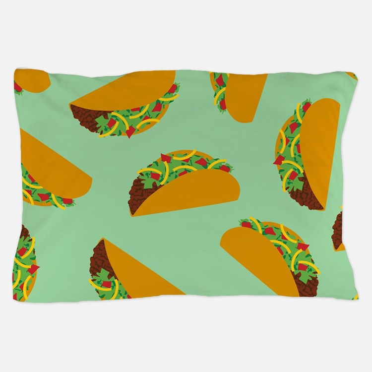 Taco Pattern Pillow Case