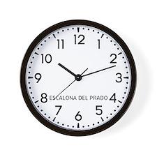 Escalona Del Prado Newsroom Wall Clock