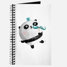 Cute Panda with Mustaches Journal