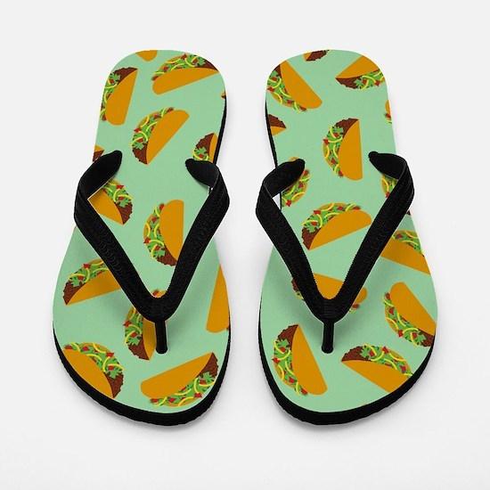 Taco Pattern Flip Flops