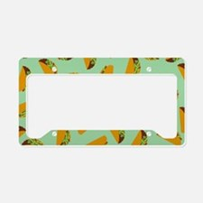 Taco Pattern License Plate Holder