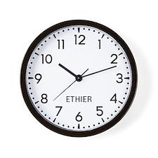 Ethier Newsroom Wall Clock