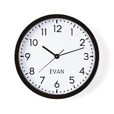 Evan Newsroom Wall Clock