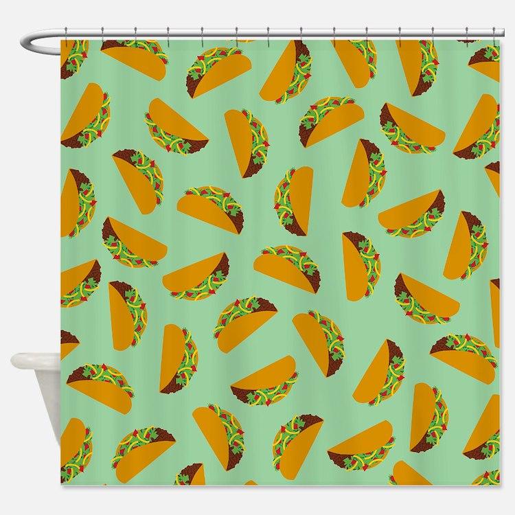 Taco Pattern Shower Curtain