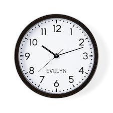 Evelyn Newsroom Wall Clock