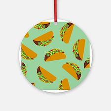 Taco Pattern Ornament (Round)
