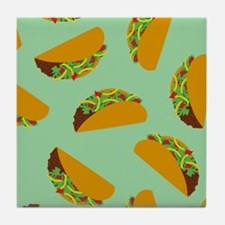 Taco Pattern Tile Coaster