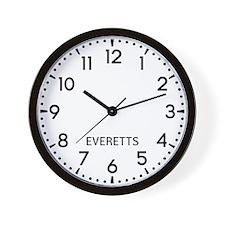 Everetts Newsroom Wall Clock