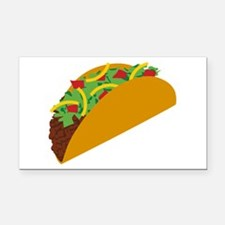 Taco Graphic Rectangle Car Magnet