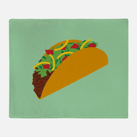 Taco Graphic Throw Blanket
