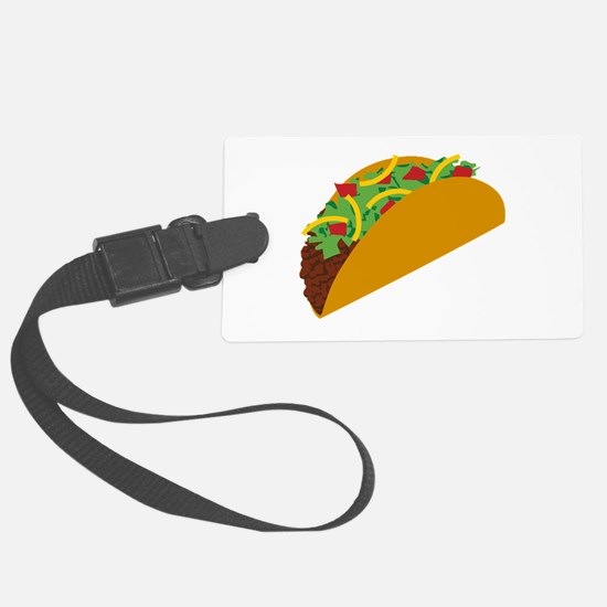 Taco Graphic Large Luggage Tag
