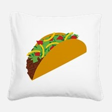 Taco Graphic Square Canvas Pillow