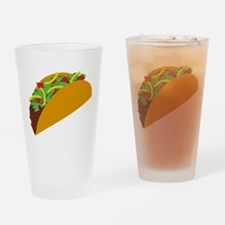 Taco Graphic Drinking Glass