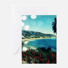 laguna Beach,aqua lights Greeting Cards
