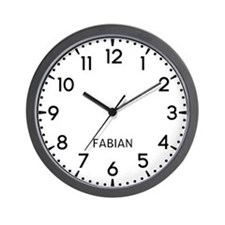 Fabian Newsroom Wall Clock