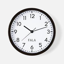 Fala Newsroom Wall Clock