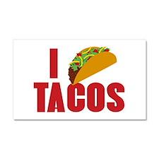 I Love Tacos Car Magnet 20 x 12