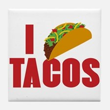 I Love Tacos Tile Coaster